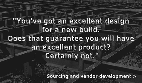 Sourcing and vendor development
